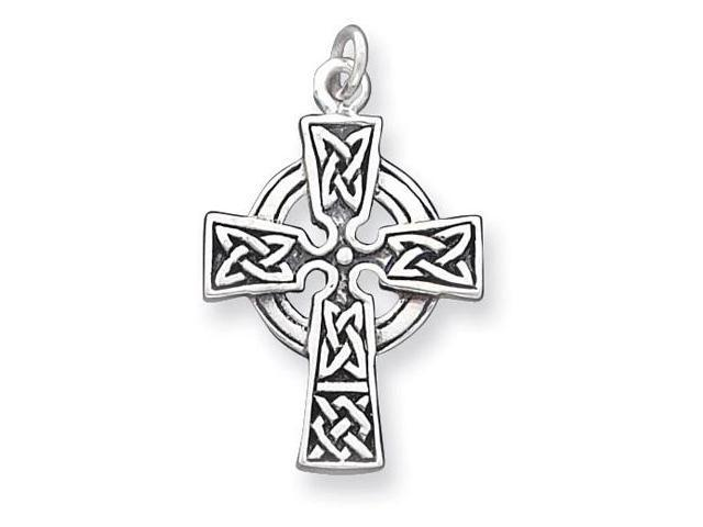 925 Silver Open Circle Celtic Knot Cross Charm Pendant