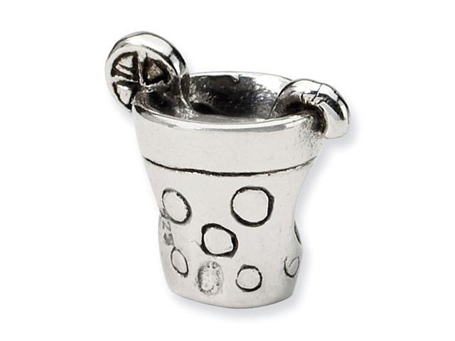"925 Sterling Silver 1/4"" Kids Lemonade Drink Charm Bead"