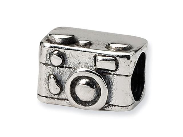"925 Sterling Silver 1/4"" Kids Camera Charm Jewelry Bead"