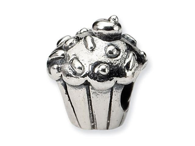 925 Sterling Silver Kids Cupcake Charm Jewelry Bead
