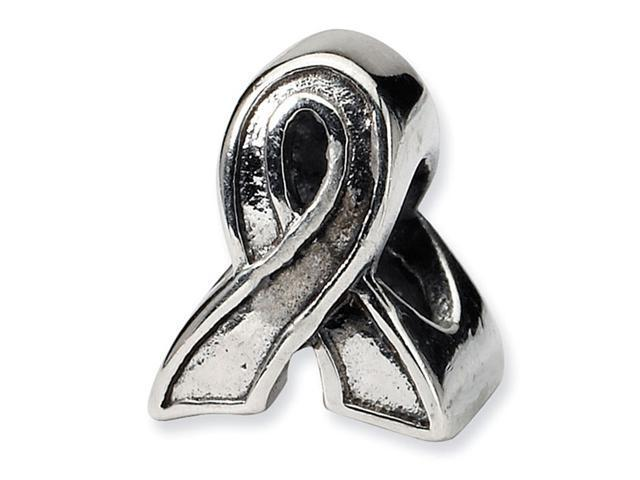 925 Sterling Silver Charm Awareness Ribbon Trilogy Bead