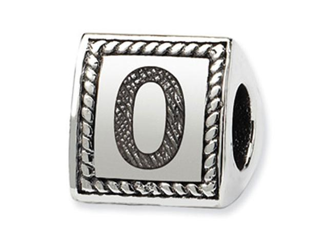 925 Sterling Silver Charm Number 0 Triangle Block Bead