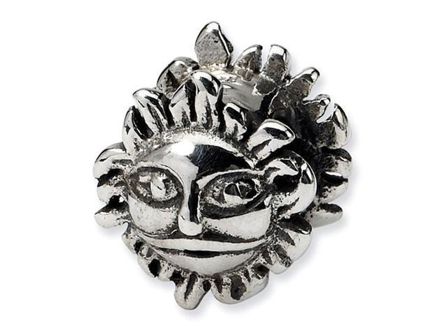 "Solid 925 Sterling Silver Charm Sun 3/8"" Jewelry Bead"