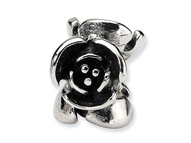 "925 Sterling Silver Charm 3/8"" Open Flower Jewelry Bead"