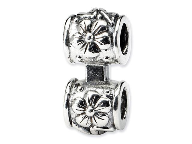925 Sterling Silver Fashion Flower Charm Connector Bead