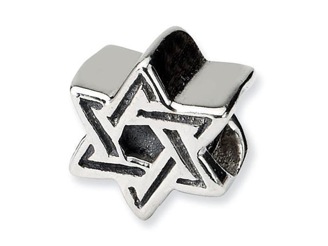 925 Sterling Silver Kids Star of David Jewelry Bead
