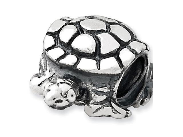 "Solid 925 Sterling Silver Turtle 3/8"" Jewelry Bead"