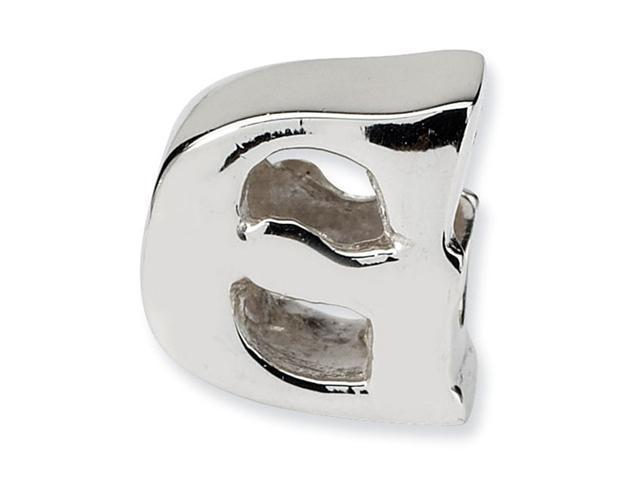 """925 Sterling Silver 7/16"""" Charm Letter G Jewelry Bead"""