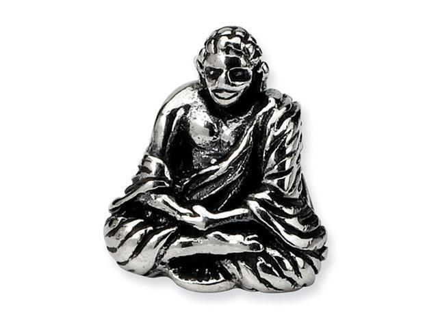 "925 Sterling Silver Buddha 3/8"" Charm Jewelry Bead"