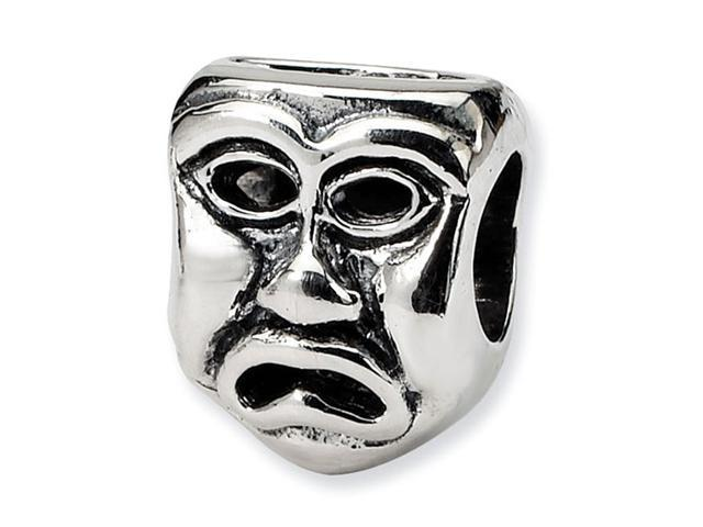 925 Sterling Silver Charm Tragedy Mask Jewelry Bead