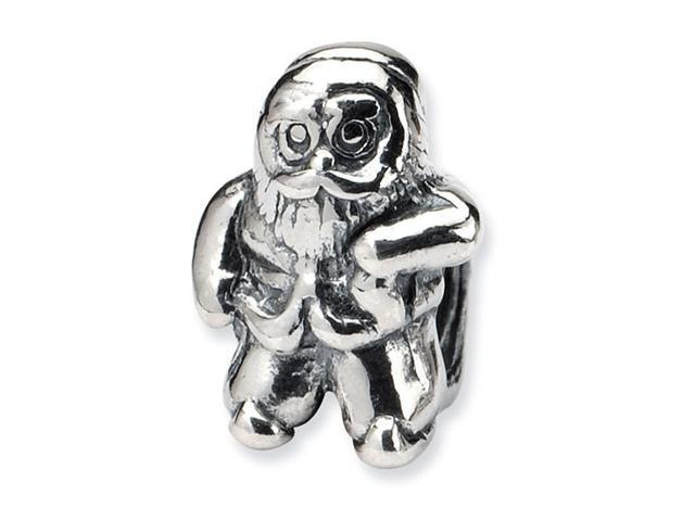 925 Sterling Silver Santa Christmas Jewelry Charm Bead