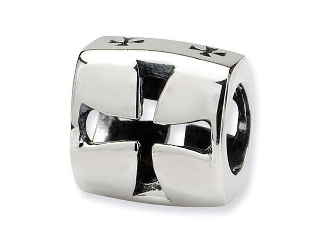 925 Sterling Silver Charm Maltese Cross Jewelry Bead