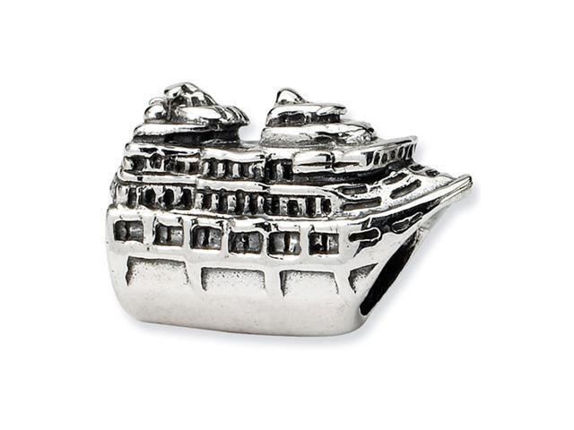 925 Sterling Silver Charm Cruise Ship Boat Jewelry Bead
