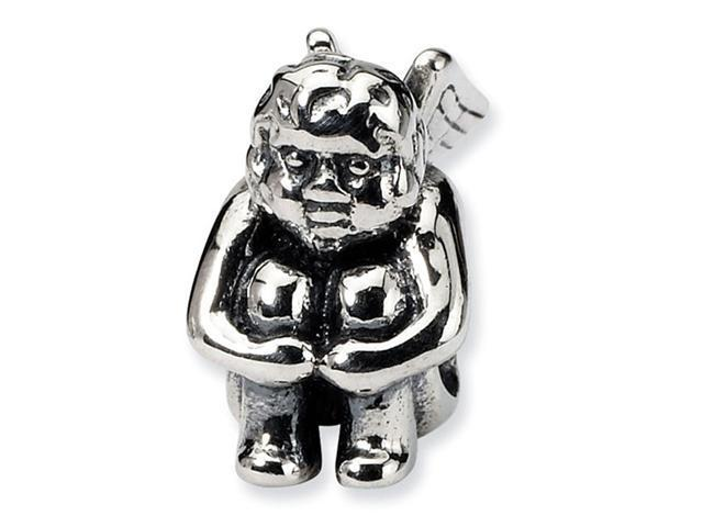 925 Sterling Silver Charm Sitting Angel Jewelry Bead
