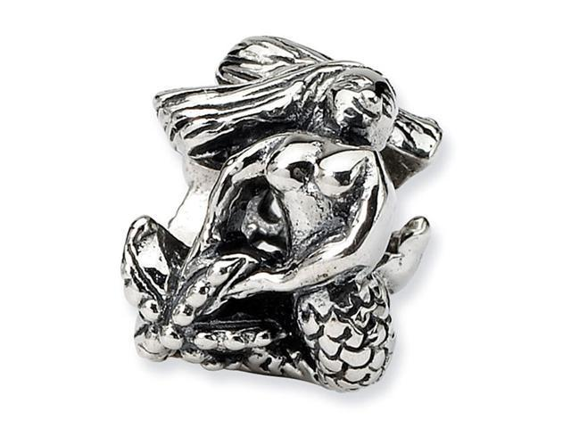 "925 Sterling Silver Charm Mermaid 3/8"" Jewelry Bead"