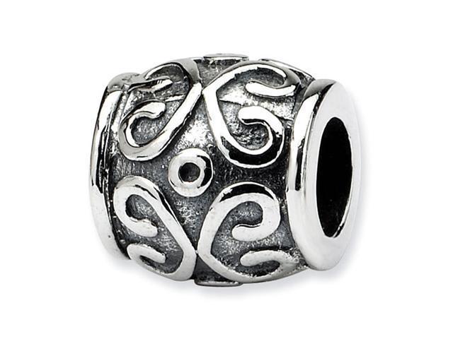925 Sterling Silver Charm Scroll Circles Bali Bead