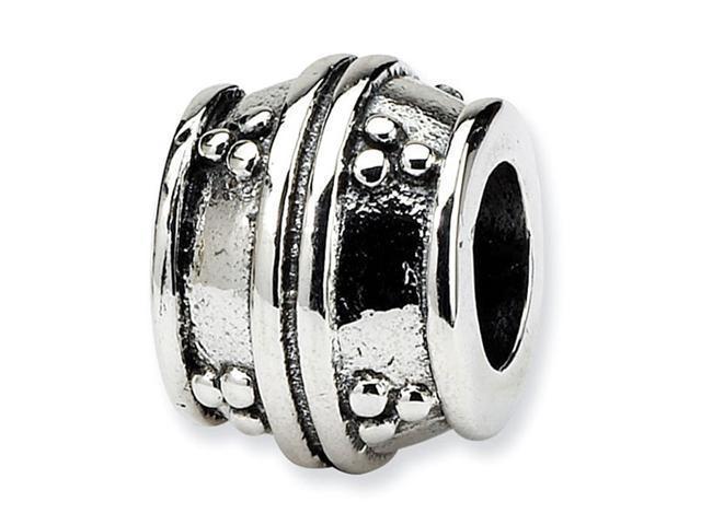 925 Sterling Silver Triple Dots Charm Bali Barrel Bead