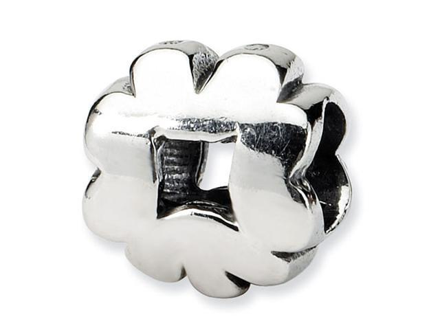 """925 Sterling Silver 3/8"""" Clover Good Luck Jewelry Bead"""