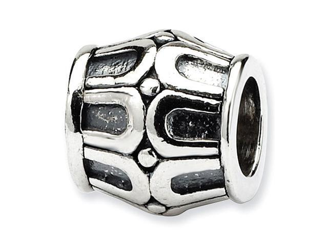 925 Sterling Silver Horseshoes Dots Charm Bali Bead