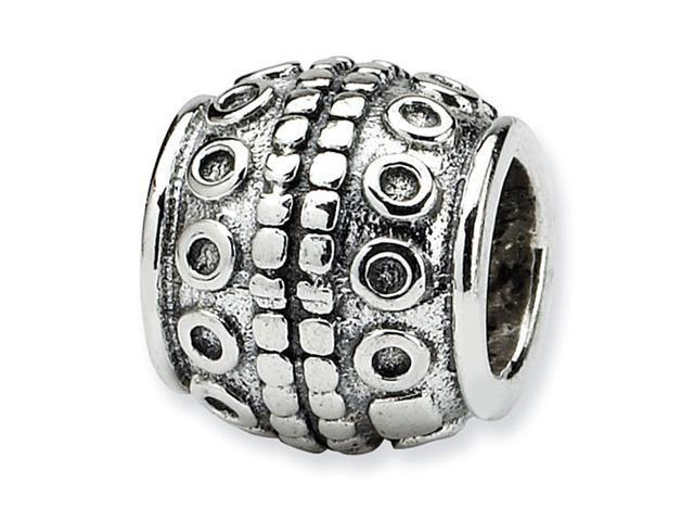 925 Sterling Silver Circles Squares Barrel Bali Bead