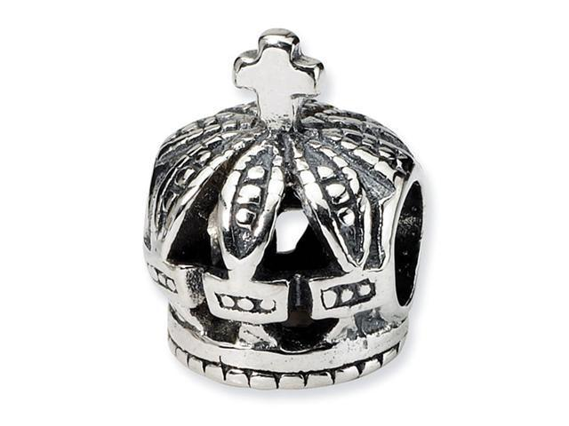 925 Sterling Silver Crown Royalty Charm Jewelry Bead
