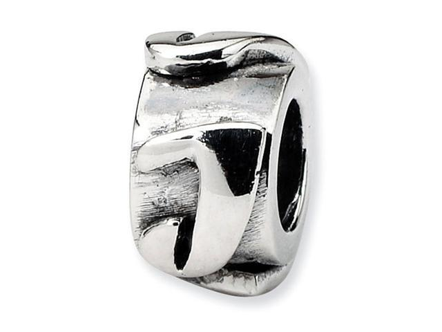 "925 Sterling Silver 3/8"" Charm Letter J Message Bead"