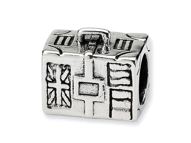 925 Sterling Silver Charm Suitcase Travel Jewelry Bead
