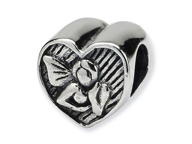 925 Sterling Silver Charm Angel Heart Jewelry Bead