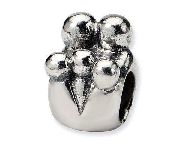 925 Sterling Silver Charm Family of Five Jewelry Bead