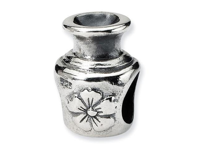 925 Sterling Silver Perfume Bottle Flower Jewelry Bead