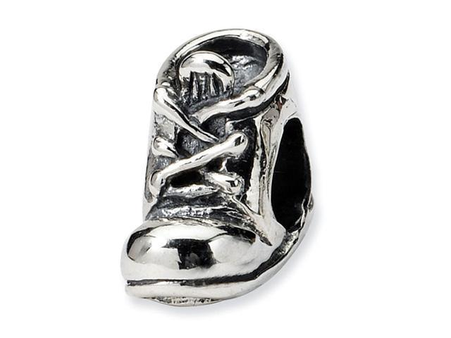 "925 Sterling Silver Charm Baby Shoe 1/4"" Jewelry Bead"