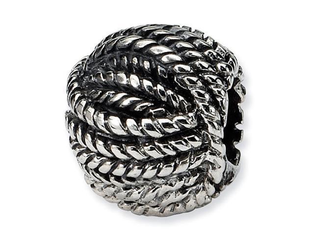 "925 Sterling Silver Yarn Ball 3/8"" Charm Jewelry Bead"