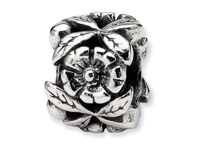 925 Sterling Silver Leaves Flower Charm Jewelry Bead