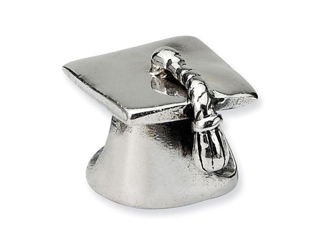 925 Sterling Silver Charm Graduation Hat Jewelry Bead