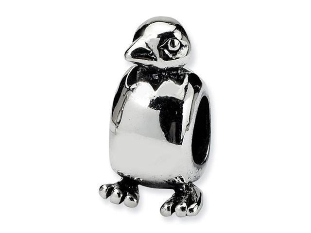 925 Sterling Silver Baby Bird Hatching Egg Charm Bead