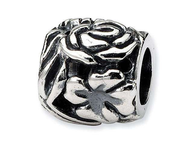 """925 Sterling Silver Charm 7/16"""" Flower Jewelry Bead"""