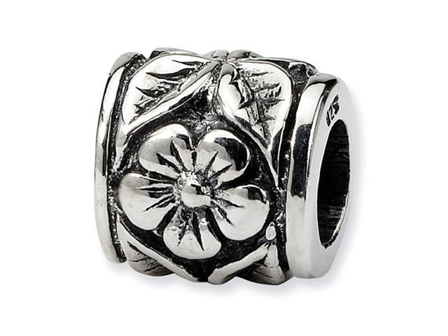 """Solid 925 Sterling Silver Charm 7/16"""" Flower Daisy Bead"""