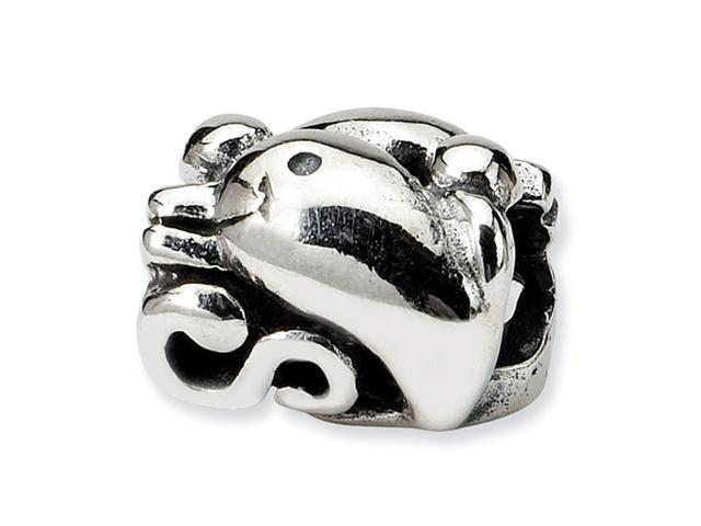 """925 Sterling Silver Ocean Dolphin 3/8"""" Dolphin Bead"""