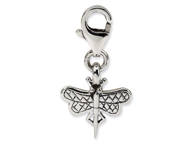 925 Sterling Silver Dragonfly Clip-On Jewelry Bead