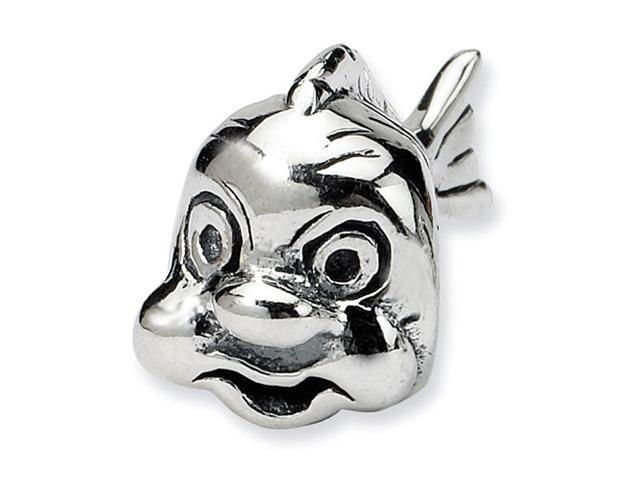 925 Sterling Silver Charm Fish Trilogy Jewelry Bead