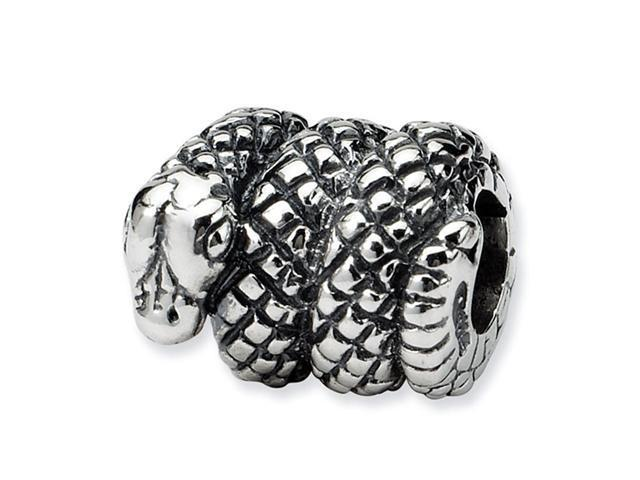925 Sterling Silver Coiled Snake Reptile Jewelry Bead