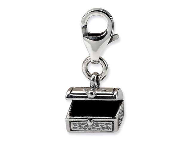 925 Sterling Silver Charm Treasure Chest Clip-On Bead