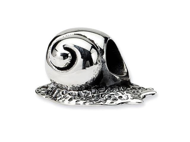 "925 Sterling Silver 3/8"" Snail Shell Charm Jewelry Bead"