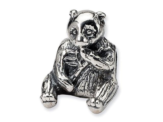 925 Sterling Silver Sitting Bear Charm Jewelry Bead