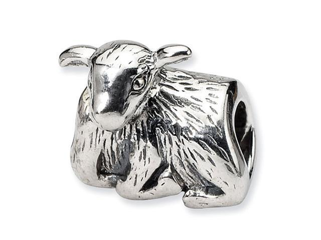 925 Sterling Silver Baby Sheep Lamb Charm Jewelry Bead