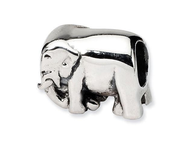 "925 Sterling Silver 3/8"" Elephant Charm Jewelry Bead"