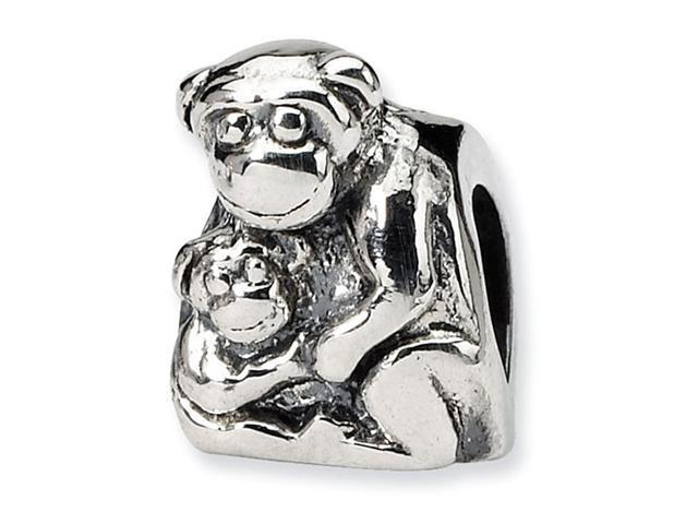 925 Sterling Silver Animal Monkey Baby Jewelry Bead
