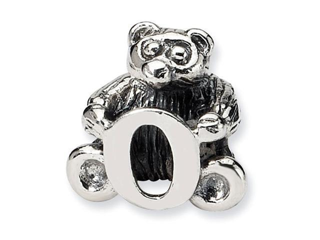 925 Sterling Silver Kids Bear Letter O Alphabet Bead