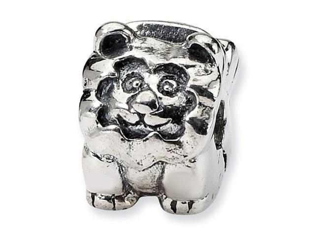 925 Sterling Silver Kids Lion Clip Hinged Charm Bead