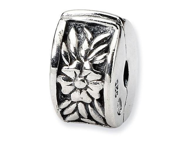 925 Sterling Silver Kids Flowers Clip On Charm Bead
